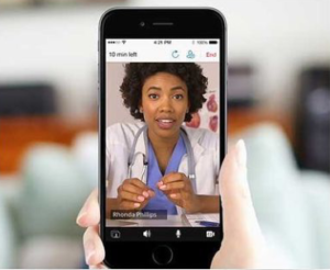 video call with telemedicine practicioner